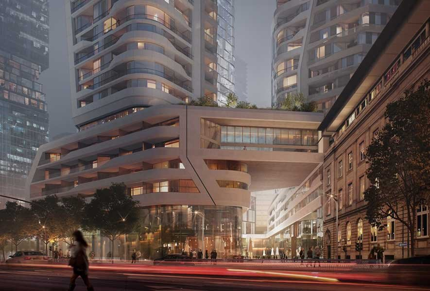 FOUR Frankfurt, UNStudio / HPP Architekten © UNStudio / Groß & Partner